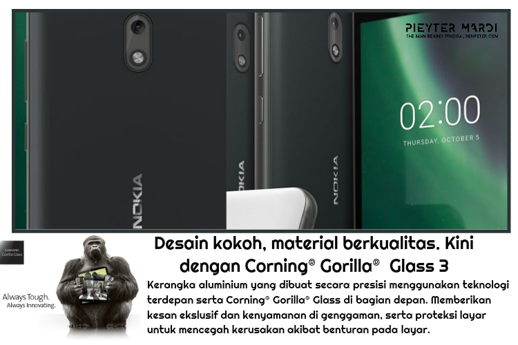nokia 2 sudah pakai corning gorilla glass 3