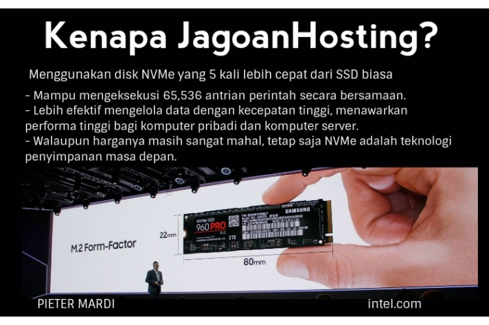 jagoan hosting menggunakan NVME disk teknologi masa depan