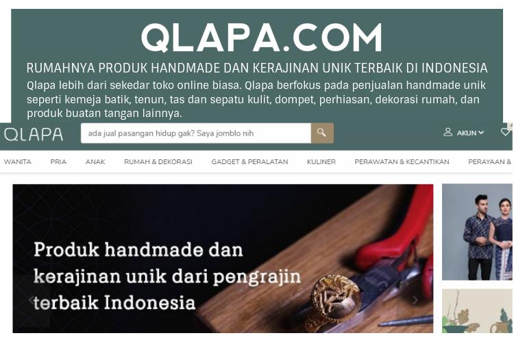 QLAPA.COM RUMAHNYA PRODUK KREATIF INDONESIA
